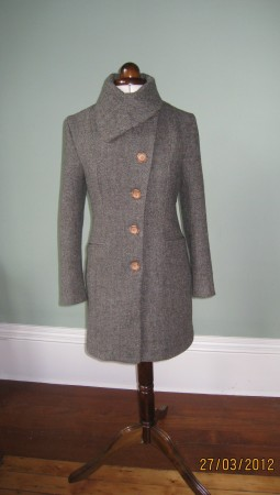 Herringbone Harris Tweed coat